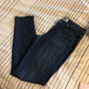 Paige Skinny Jeans with Fraying Hem